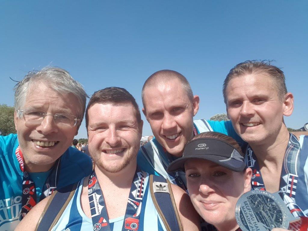 Jim Brown Sam Simmons Robert Wright Sally McBridge FVS Bedford Half Marathon IMG_20180902_114948