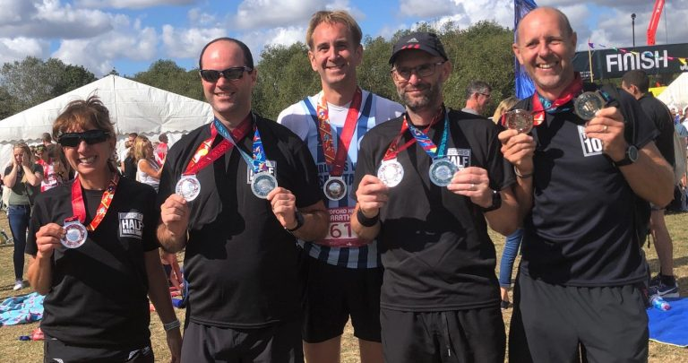 Spartans after the Bedford Half Marathon. Image supplied by FVS (3)