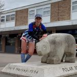 Fiona Clarke FVS marathon runner at Chells